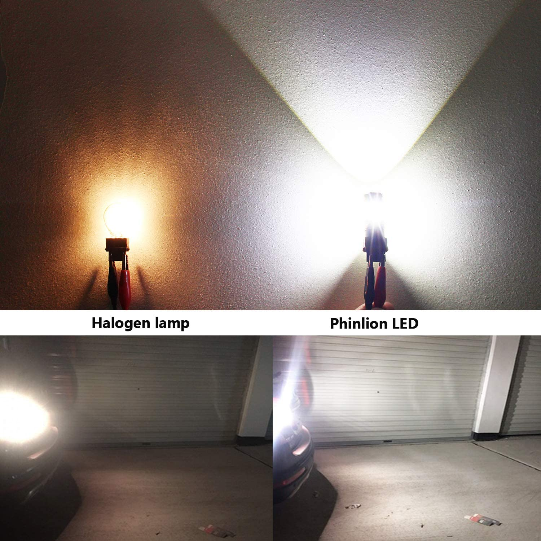Amber Yellow Phinlion 3600 Lumens 3157 3457 Amber LED Turn Signal Light Bulbs Super Bright 3156 3057 3757 4157 LED Bulb for Turn Signal Blinker and Parking Lights