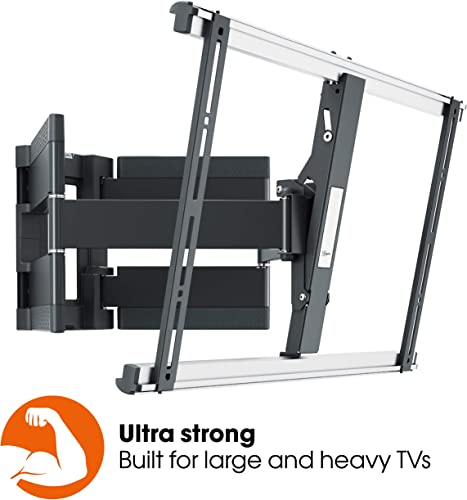 Vogel s Thin 550 Ultra Strong Low Profile Premium TV Wall Mount for XXL Heavy TVs up to 100 inch 154 Pound, Full Motion 120 Swivel and 20 Tilt, VESA max. 600×400, Black