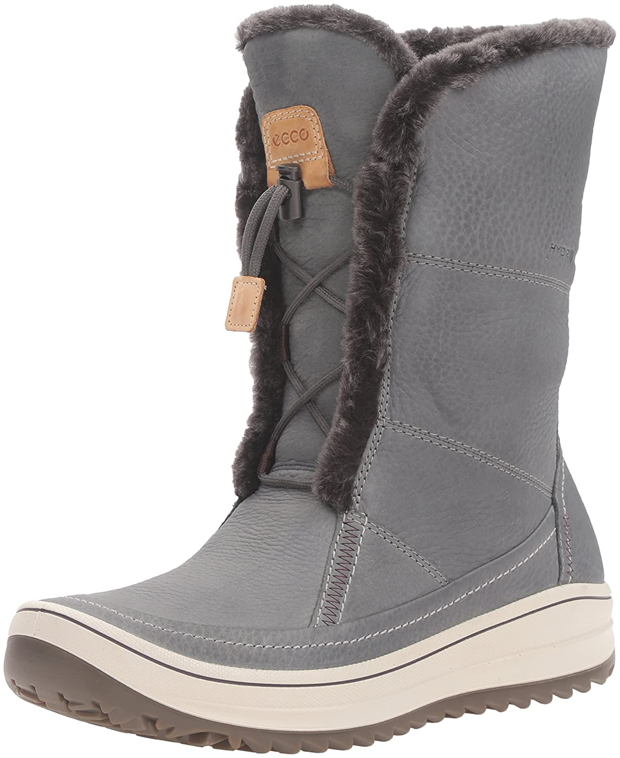 ECCO Women's Trace Tie Hydromax Snow Boot B0163GKK7M 40 EU/9-9.5 M US|Dark Shadow