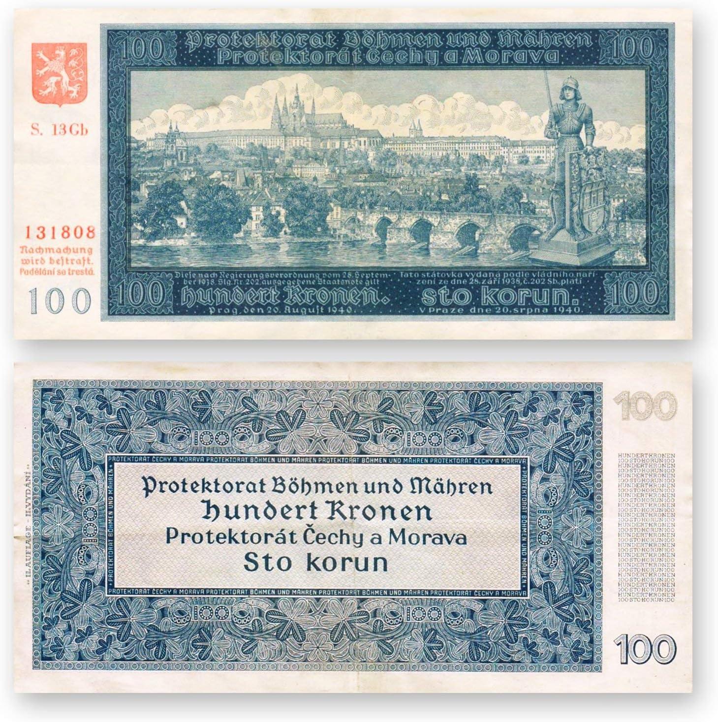 Allies and Axis World War II 14 Original Banknotes 1939-1945