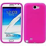 Luxburg® In-Colour Design Custodia Cover per Samsung Galaxy Note 2 GT-N7100 colore rosa, in silicone