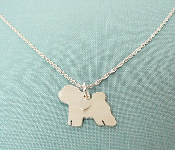 Sterling Silver Bichon Necklace