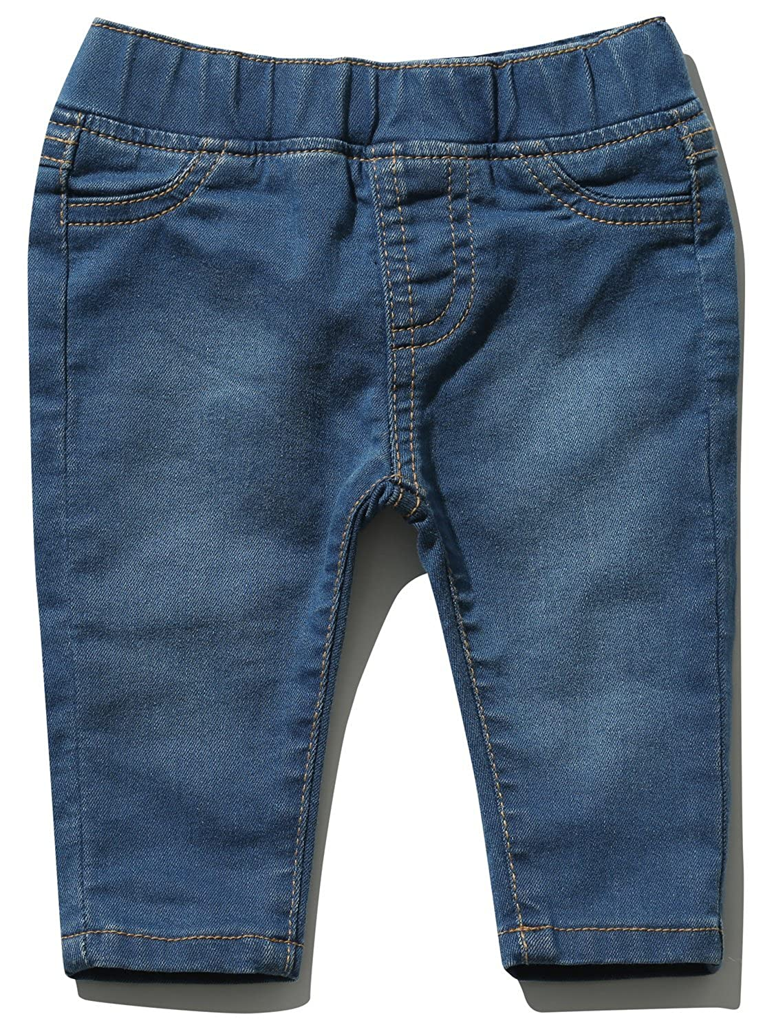 M&Co Baby Boy Cotton Stretch Blue Denim Stretch Waistband Full Length Jeggings