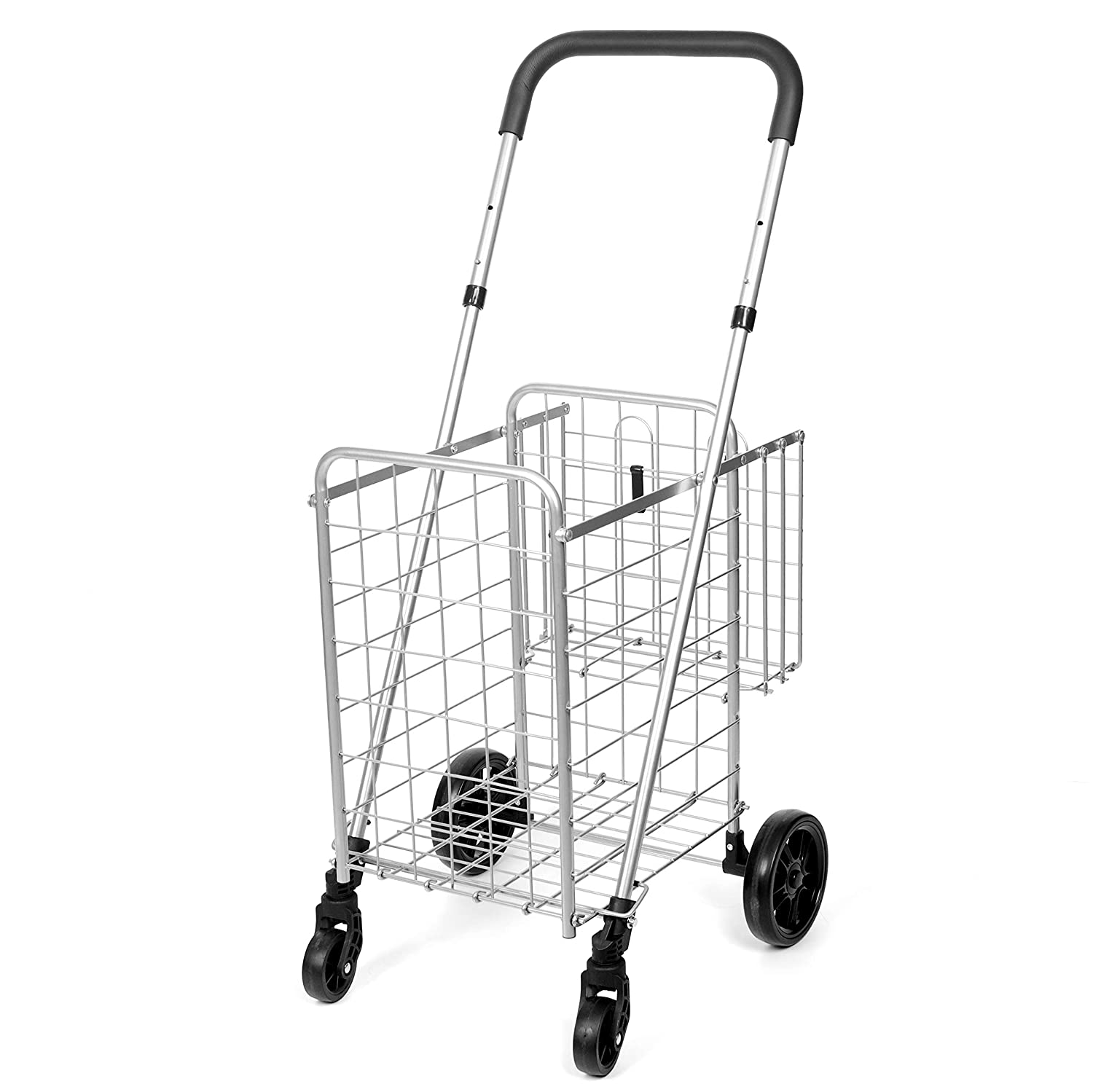 bd89ac52a13f Compact Folding Grocery Shopping Cart - Supenice (SN7502) Double ...