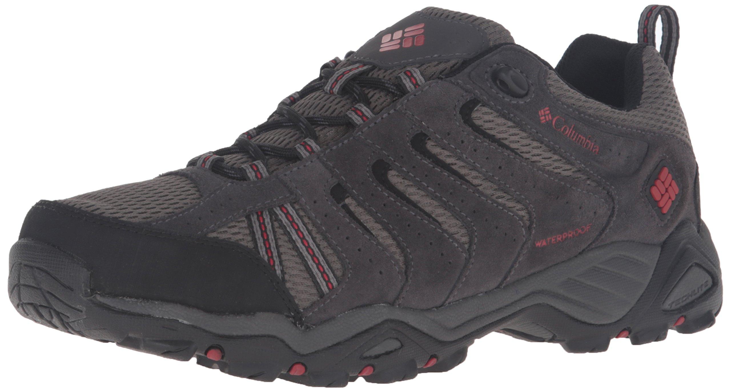 Columbia Men's North Plains II Waterproof Hiking Shoe, City Grey, Rocket, 10.5 D US