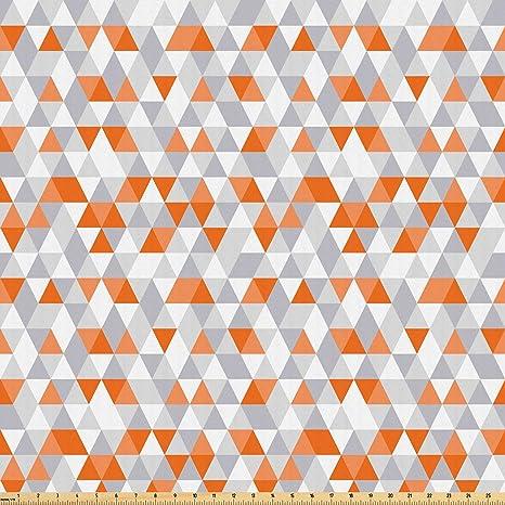 Amazon com: Lunarable Geometric Fabric by The Yard