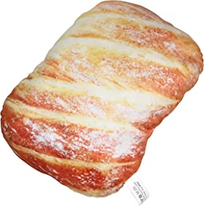 Soft Novelty Throw Pillows Funny Junk Food Pillow - Housewarming, White Elephant Prank Party Gifts Pillow Collections (Medium French Bread)