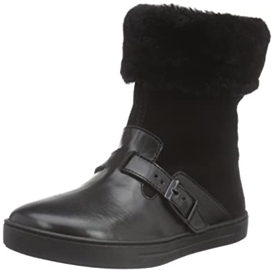 BIRKENSTOCK Shoes Mädchen Stirling Kinder Kurzschaft Stiefel, Grau (Grey Lammfell), 29 EU