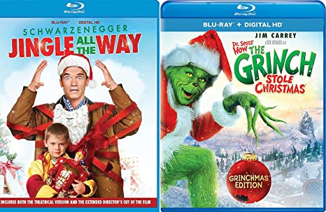 a christmas double feature how the grinch stole christmas jingle all the way movie holiday - Arnold Christmas Movie