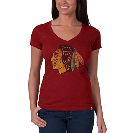 4185c4495da Amazon.com : NHL '47 Brand Women's V-Neck Scrum Tee : Sports & Outdoors