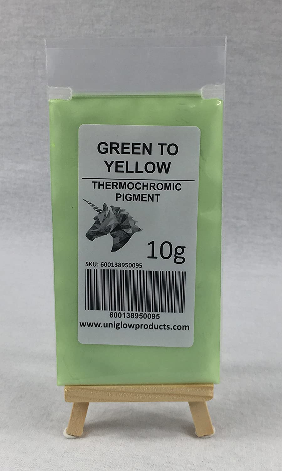 5g, Green to Yellow UniGlow ThermoChromatic Pigment