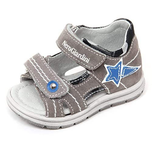 C9626 sandalo bimbo NERO GIARDINI JUNIOR scarpa avio shoe kid [19] B5i80o4m