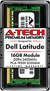 A-Tech 16GB RAM for Dell Latitude 7400, 7300, 5500, 5400, 5300, 3500, 3400, 3300 | DDR4 2400MHz SODIMM PC4-19200 Laptop Memory Upgrade Module
