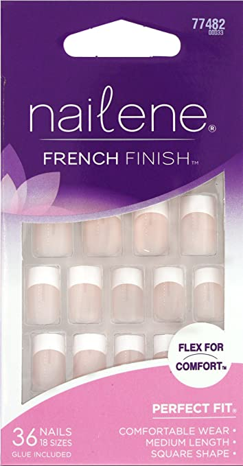 NAILENE FRENCH FINISH FLEX FOR COMFORT #77482 MEDIUM LENGTH