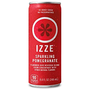 IZZE Sparkling Juice, Pomegranate, 8.4 Fl Oz (12 Count)