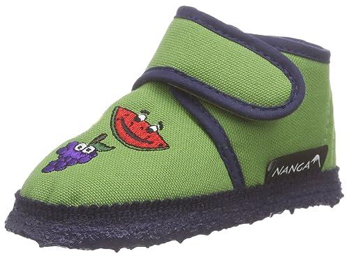 NangaFreche Früchte - Patucos y Zapatillas de Estar por casa Bebé-Niños, Color Verde, Talla 18: Amazon.es: Zapatos y complementos