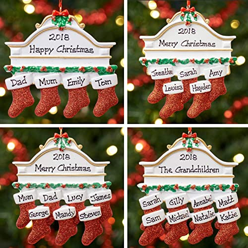 f52faccdce1 Personalised Family Christmas Xmas Tree Bauble Decoration Ornament ...
