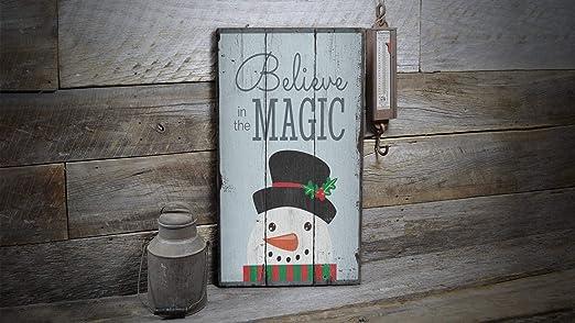 YCCCYOZ Believe In Magic, Cartel de Navidad con diseño de ...
