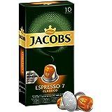 Jacobs 咖啡胶囊 Espresso Classico - 强度 7 - 10 Nespresso (R)* 兼容 铝质咖啡胶囊 (1 x 10个胶囊)