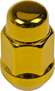 Dorman 711-335K Pack of 16 Gold Wheel Nuts and 4 Lock Nuts with Key