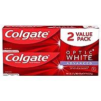 Colgate Optic White Advanced Teeth Whitening Toothpaste, Sparkling White, (2 Count...