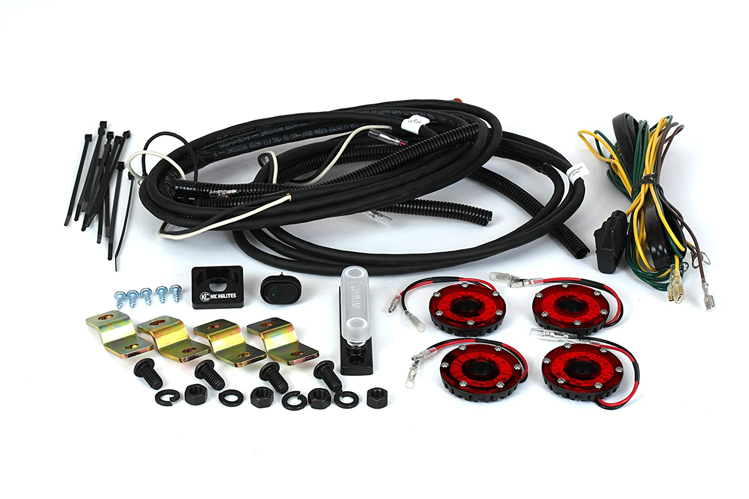Amazon.com: KC HiLiTES 91020 Cyclone Clear LED Rock Light Kit (4-Light  system for Jeep JK 07-16): Automotive