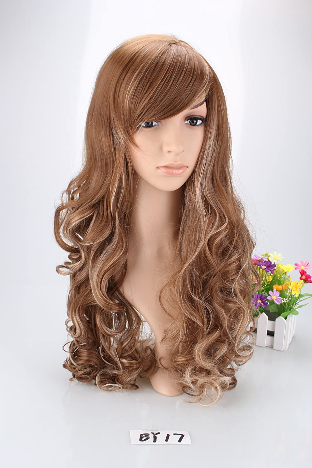 Amazon liz wig long wavy cosplay wig 26 ltown w blonde amazon liz wig long wavy cosplay wig 26 ltown w blonde highlights beauty urmus