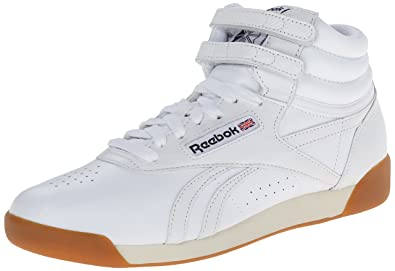 Reebok Women's Freestyle Hi Fitness Classic Shoe, WhitePaper WhiteAthletic Navy