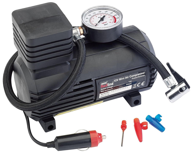 Draper redline 81023-12v mini compressore daria analogico