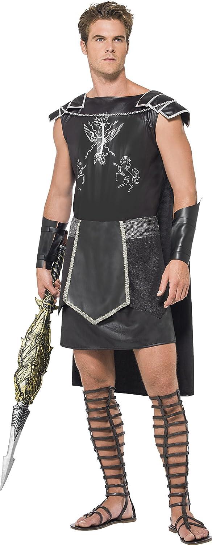 Smiffys Disfraz de Gladiador Oscuro, con Túnica y Muñequeras ...