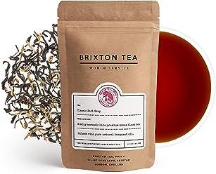Brixton Tea ® Classic Earl Grey, Fresh Loose Leaf, English Breakfast Tea, 100g