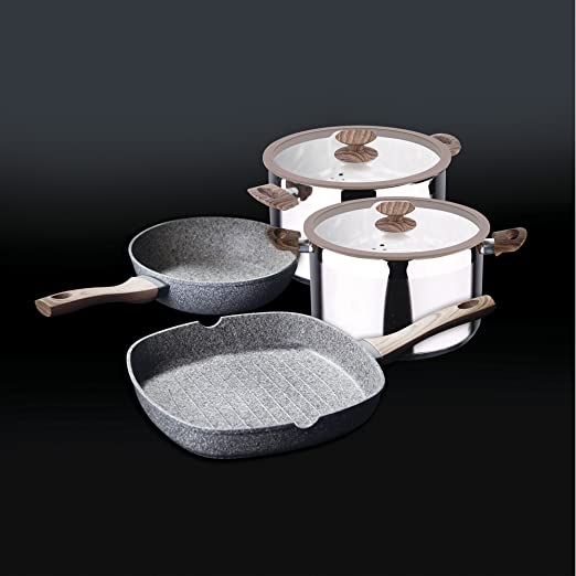 Granito by Bergner Home Premium Forged Aluminum & Granite 11 Inch Frying Pan with Full Induction