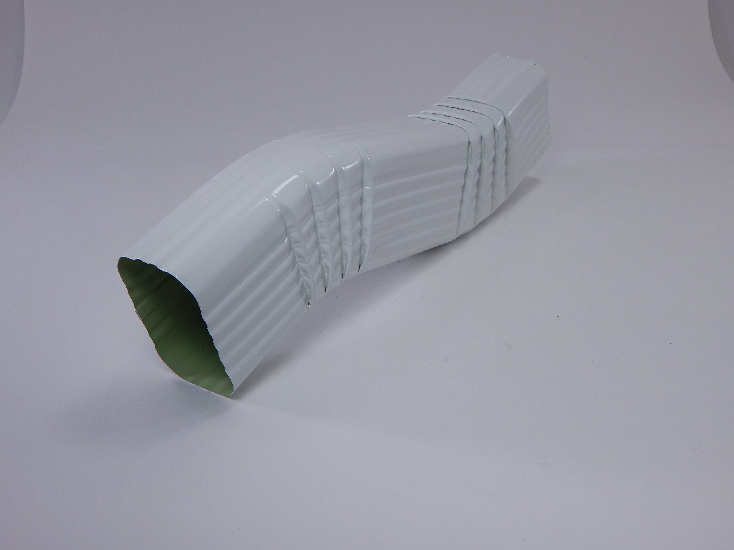 """2"""" x 3"""" Inch White Aluminum Downspout B Style (3"""" offset) Zig Zag Elbows"""