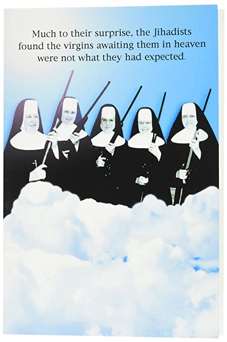 Amazon 0765z virgins in heaven birthday funny birthday 0765z virgins in heaven birthday funny birthday greeting card with 5quot x m4hsunfo