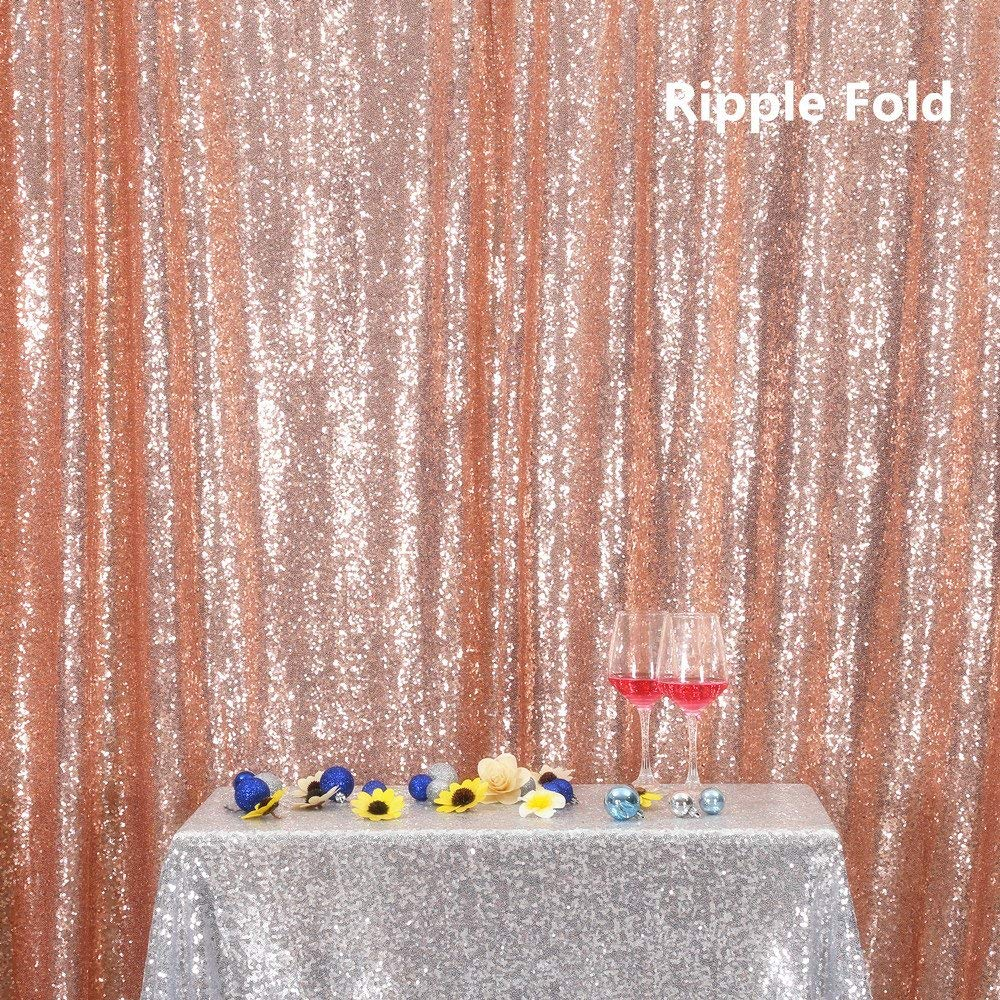 pink gold PartyDelight Sequin Backdrop