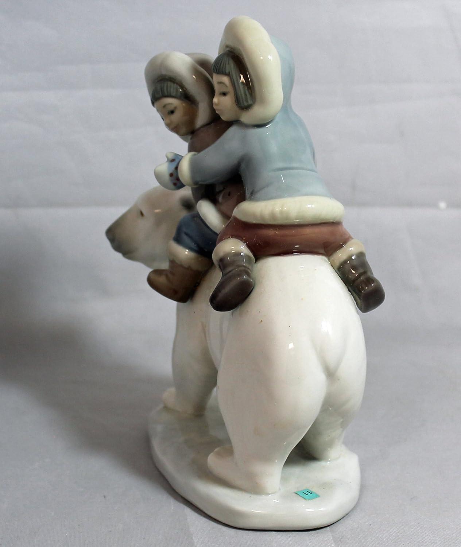 Lladro Eskimo Riders Porcelain Figurine