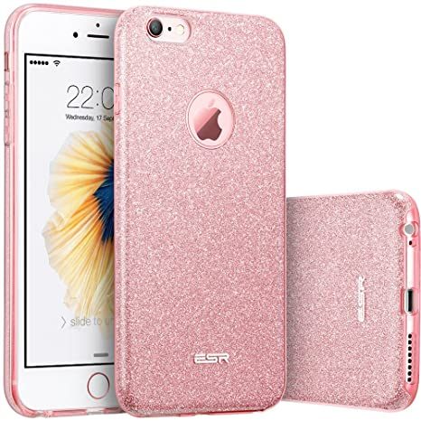 buy online 8c005 c0977 ESR iPhone 6 Plus Case, iPhone 6S Plus Case, Luxury Glitter Sparkle Bling  Designer Case [Slim Fit, Hard Back Cover] Shining Fashion Style for Apple  ...