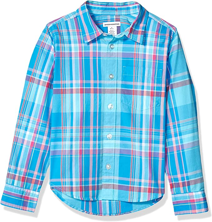 Amazon Essentials - Camisa de popelina/batista de manga larga para niño: Amazon.es: Ropa y accesorios