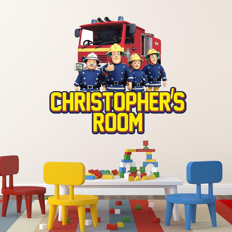 Fireman Sam Childrens Wall Stickers Transfers Bedroom Vinyl Mural Boys Girls