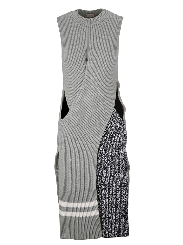 Mrz Women's 01530625 Grey Wool Dress