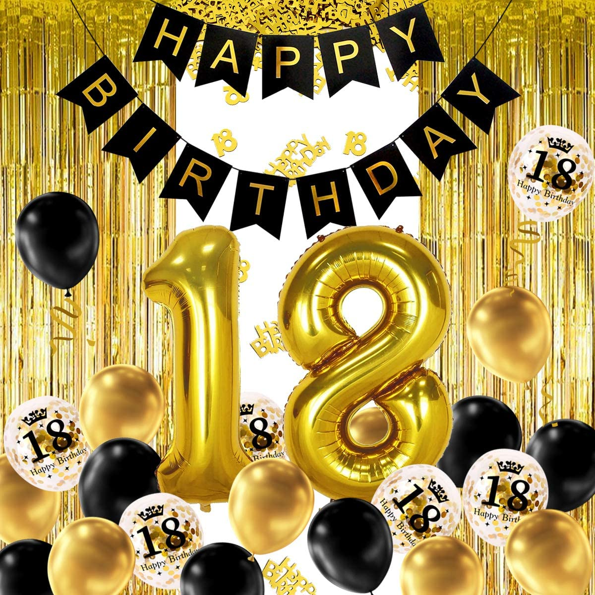 """Gold Crown 18"""" Balloon Birthday Party Decorations"""
