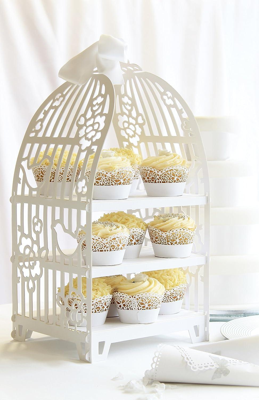 Talking Tables soporte de pasteles blanco en forma de jaula /'Something In The Air/' Ideal para el centro de la mesa para una boda.