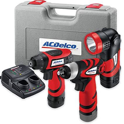 acdelco ard847li cordless 8v li ion drill driver impact wrench set