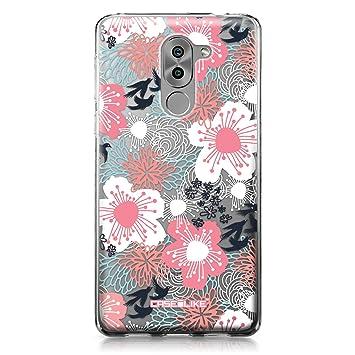 CASEiLIKE Funda Honor 6X, Carcasa Huawei Honor 6X/Mate 9 Lite/GR5 2017, flor japonesa 2255, TPU Gel silicone protectora cover