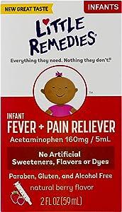 Little Remedies Infant Fever & Pain Reliever | Natural Berry Flavor | 2 FL OZ