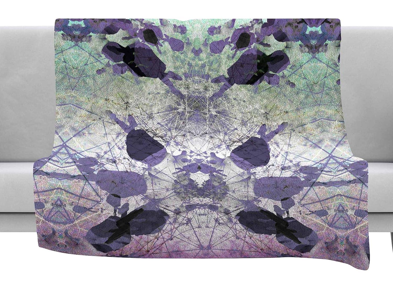 80 x 60 Fleece Blanket Kess InHouse Danii Pollehn Jumper Purple Geometric Throw