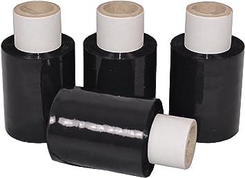 transparent Abroller Beste-Folie Stretchfolie 23my 100mmx150m 0,370 Kg Handfolie Wickelfolie 40 Mini-Rollen