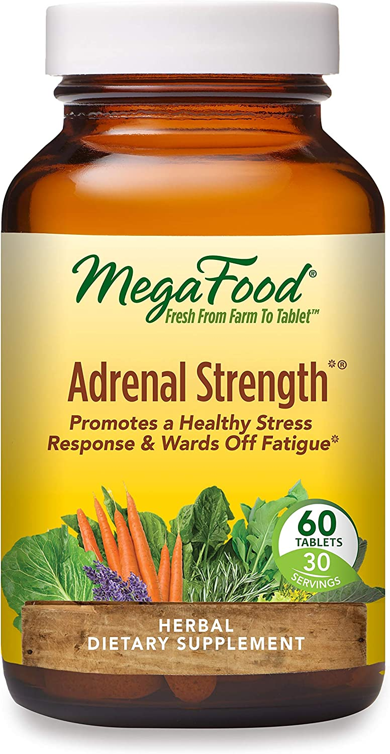 MegaFood, Adrenal Strength, Supports a Healthy Stress Response, Herbal Supplement Vegetarian, 60 Tablets