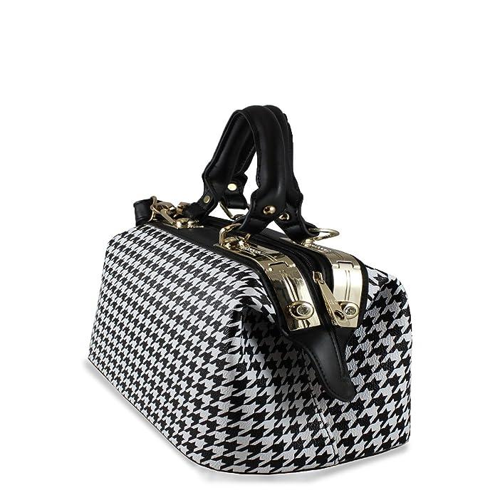 Sugar Sweet Bags Designer Dogtooth Faux Leather Doctor Bag Ladies Shoulder  Handbag H-131005  Amazon.co.uk  Shoes   Bags 029068805