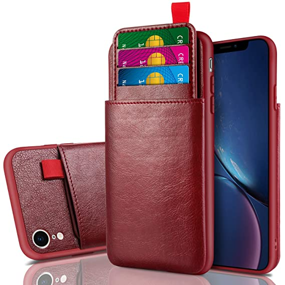 92b547275c95 Cheeringary Case for iPhone XR Case Wallet Protective Slim Case with Credit  Card Holder Slot Pocket Soft PU Leather Case Shockproof TPU Bumper Cover ...